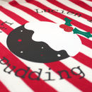 Personalised 'Pudding' Stripy Christmas Romper