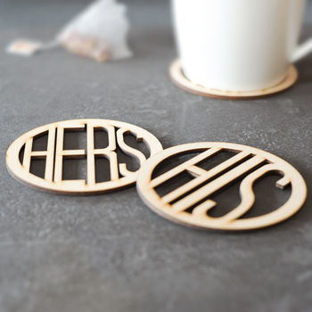 His And Hers Wooden Coasters