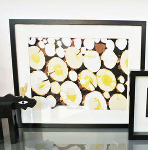 Gold Logs Screen Print - contemporary art
