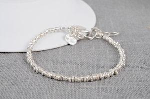 Silver Personalised Small Nugget Bracelet - women's jewellery