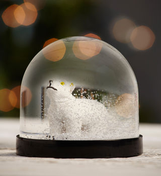 White Polar Bear Snow Globe