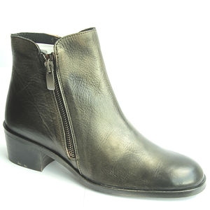 Womens Gold Finished Chelsea Boots