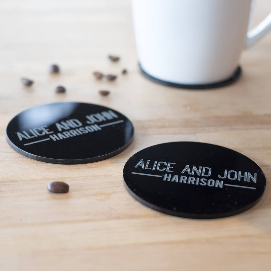Personalised Couples Acrylic Coasters