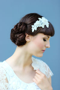 Beaded Lace Hair Comb / Band - wedding fashion