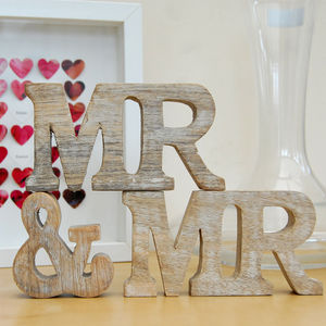 Mr And Mr Natural Wooden Sign - mr & mr