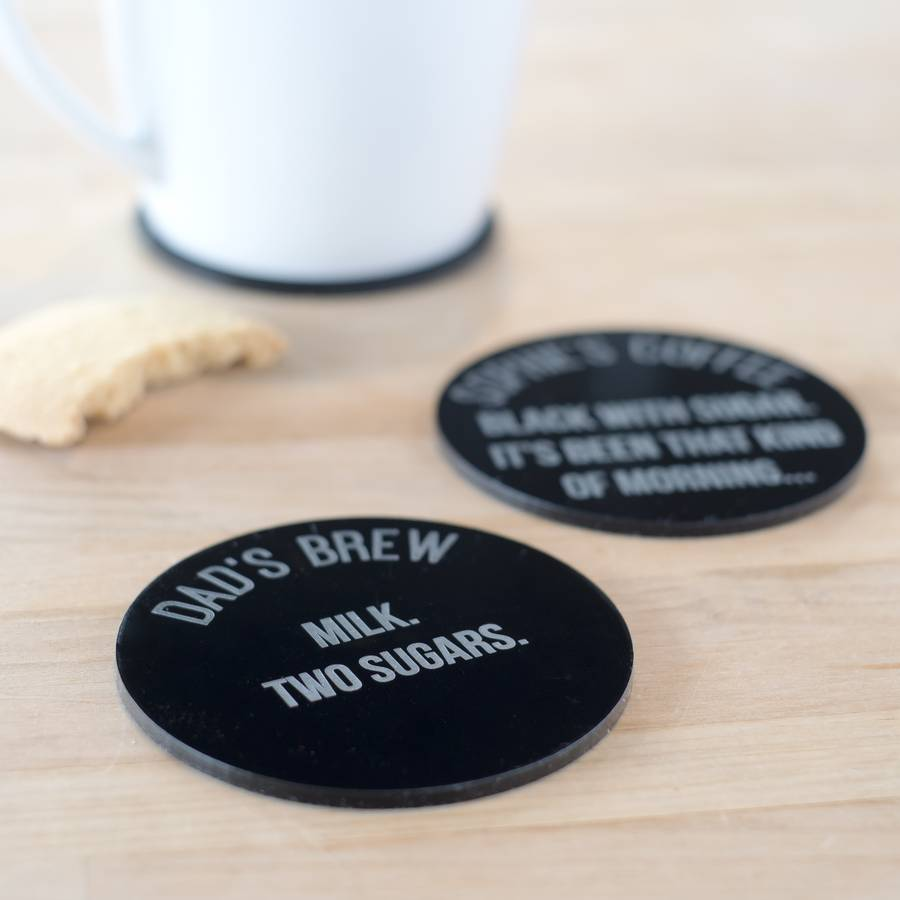 Personalised Drinks Order Coaster