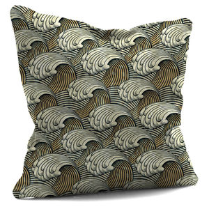 Dark And Light Rolling Wave Design Cushion