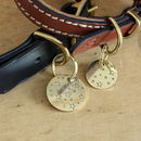 Starry night brass ID tags
