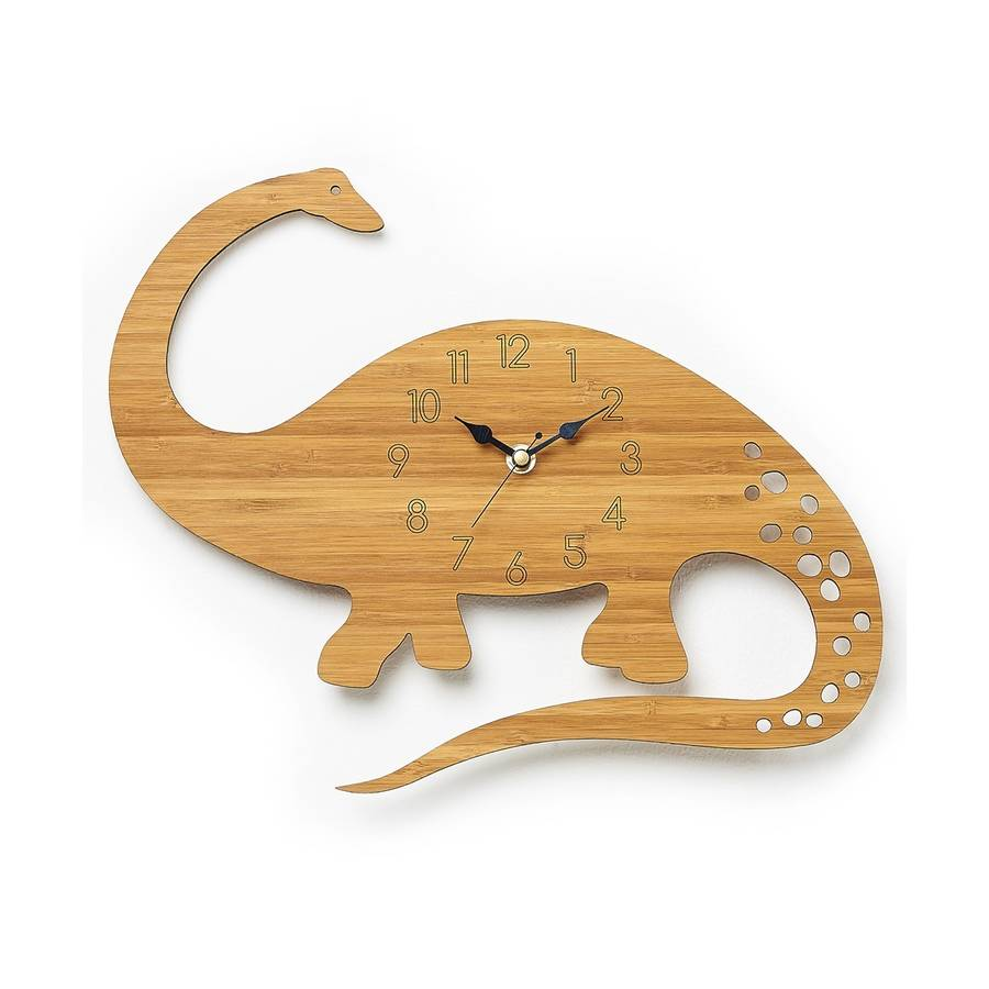 diplodocus personalised children's dinosaur clock by owl ...