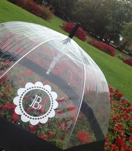 Monogrammed Clear Dome Umbrella