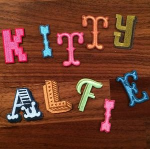 Alphabet Iron On Patches - sewing kits