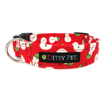 Snowman Christmas Dog Collar