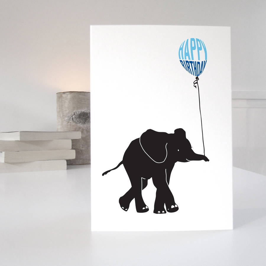 Elephant Birthday Card By Purpose Worth Etc