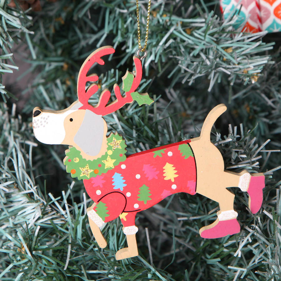 Red Berry Christmas Tree Decorations : Christmas tree dog decorations by red berry apple