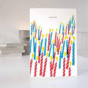 Multi Candle Birthday Card