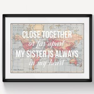 Personalised Sister Print - for sisters