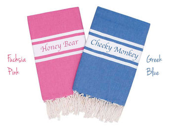 Set Of Two Personalised Beach Towel
