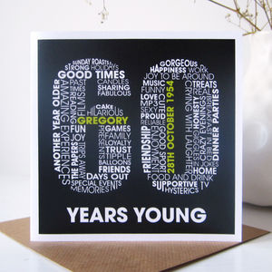 Personalised 60th Birthday Card - special age birthday cards