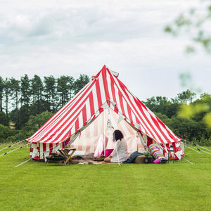 Striped Strawberries And Cream Bell Tent