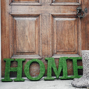 Real Moss Decorative Home Sign