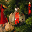 Personalised Laser Cut Christmas Glass Bauble
