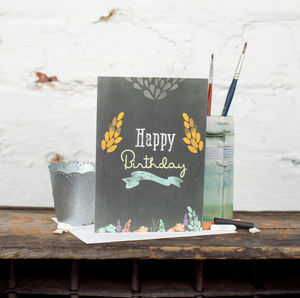 'Happy Birthday' Chalkboard Card