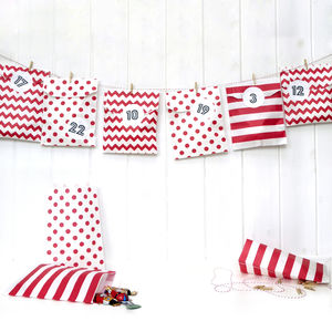 Advent Calendar Red Paper Bag Kit - advent calendars