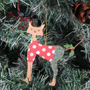 Christmas Tree Cat Decorations