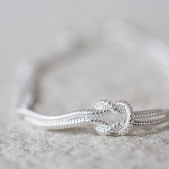 'Tying The Knot' Sterling Silver Bracelet