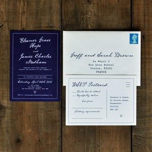 Fountain Pen Calligraphy Wedding Invitation - invitations