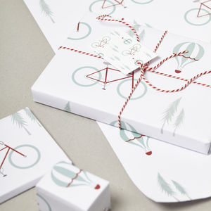 'Alpine Ride' Gift Wrap And Tags Set