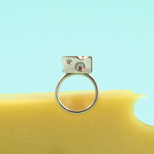Cheese Dreams Silver Ring