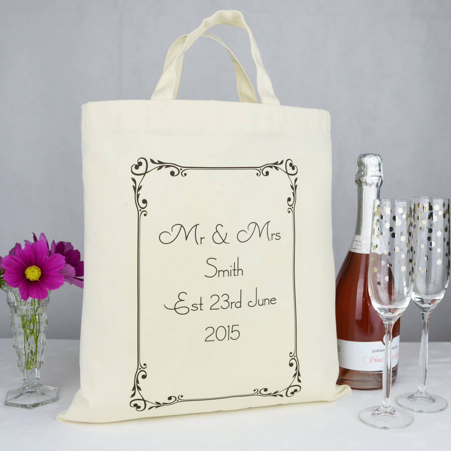 Personalised Mr And Mrs Wedding Gift Bag
