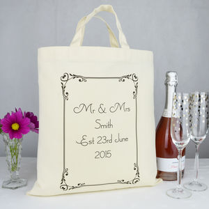 Personalised 'Mr And Mrs' Wedding Gift Bag - shop by category