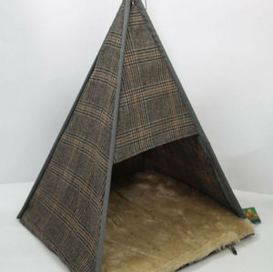 Teepee Style Cat Bed In Tweed Fabric - cats