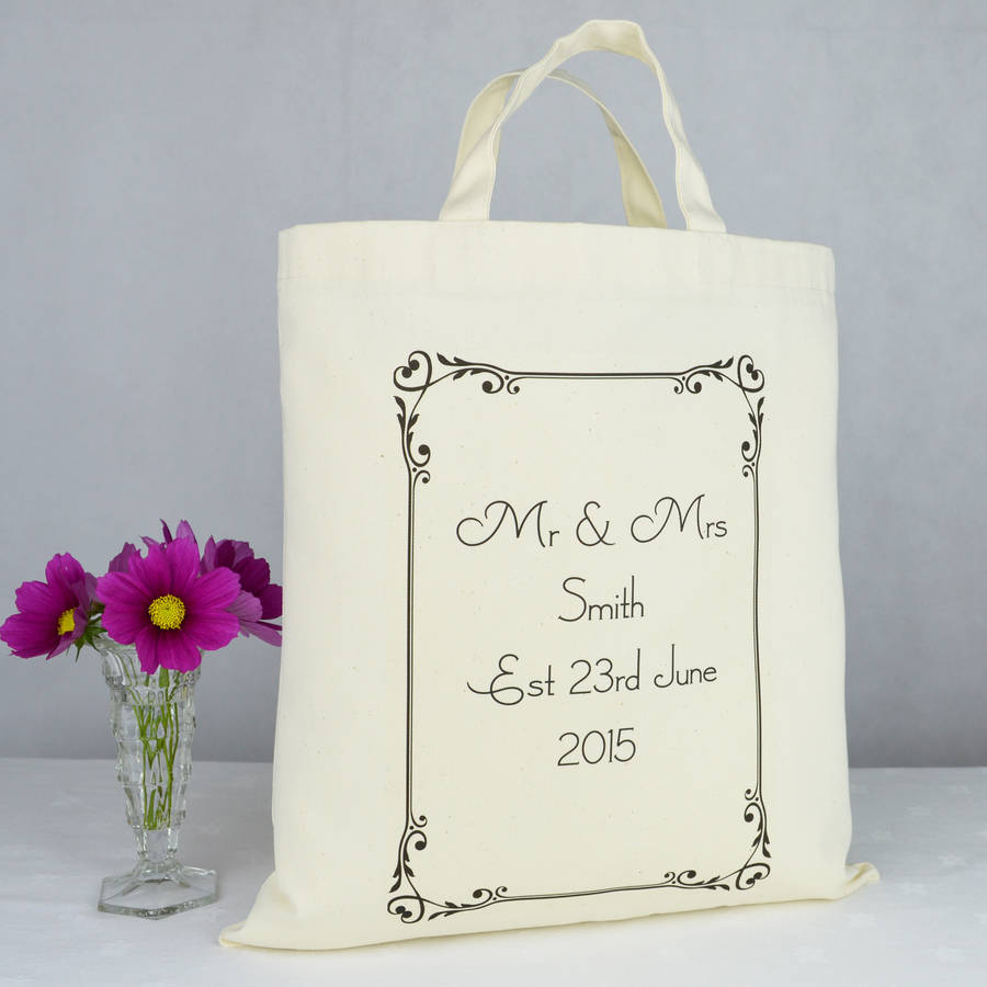Personalised 'mr And Mrs' Wedding Gift Bag By Andrea Fays