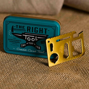 Personalised Gentlemans Survival Credit Card Tool - home accessories