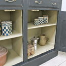 Distressed Antique Pine Painted Cupboard