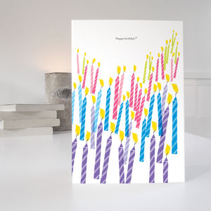 70 Candles 70th Birthday Card