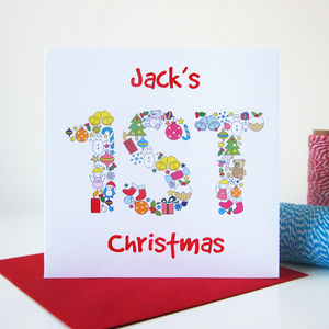 Children's First Christmas Card - christmas cards