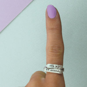 One Way Or Another Arrow Ring