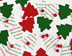 Christmas Trees 2014 Table Confetti - partyware & accessories