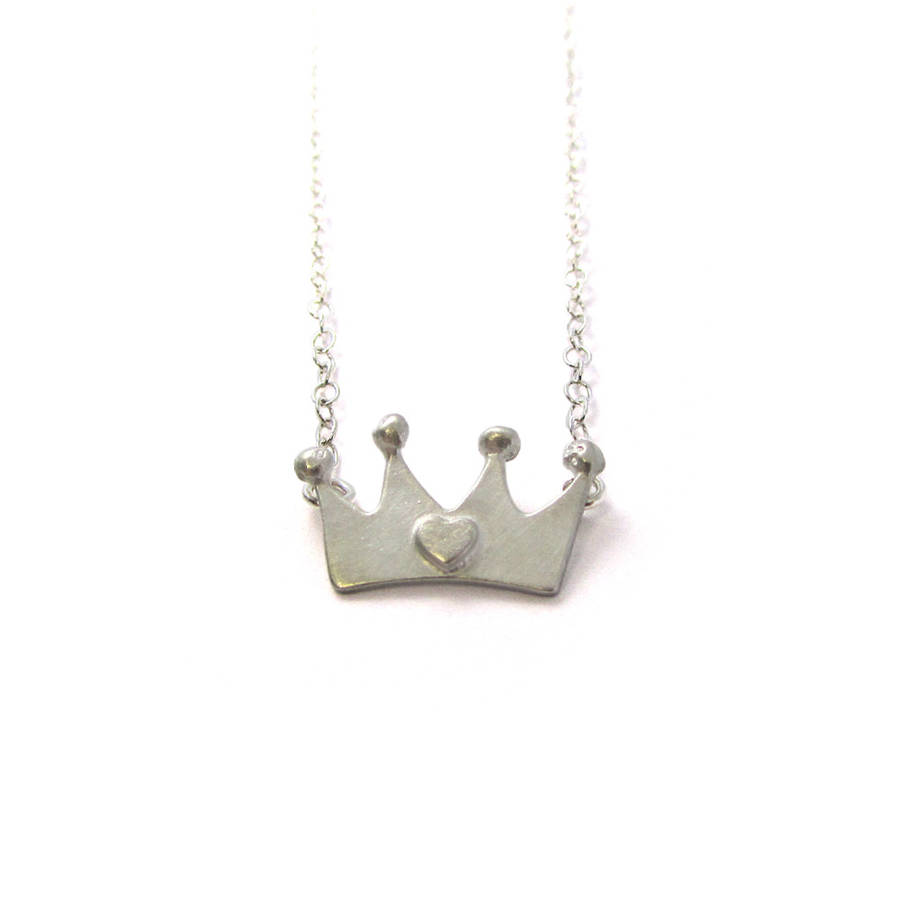 jewelry product in gallery necklace couture metallic juicy lyst crown silver