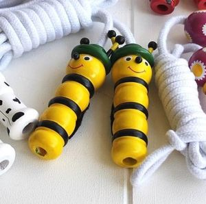 Hand Painted Wooden Bee With Hat Skipping Rope