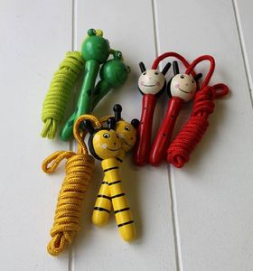Hand Painted Wooden Frog Skipping Rope - garden sale