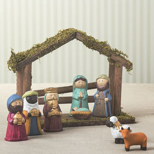 Children's Ceramic Nativity Set - nativity scenes & figures