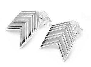 Art Deco Arrow Studs In Silver, Gold Or Rose Gold