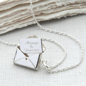 Personalised Sterling Silver Secret Letter Necklace - necklaces & pendants