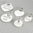 Personalised Sterling Silver Charms