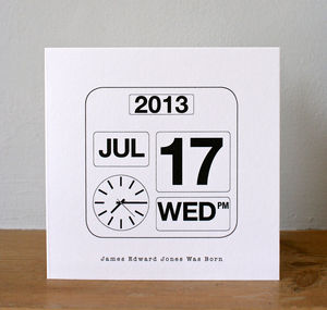 Personalised Calendar Date Card - save the date cards